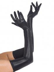 Lange handsker i lædereffekt
