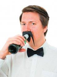 Tilbehør til flasker: sort overskæg 10,5 x 8 cm