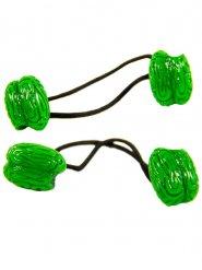 2 hjerne hårelastik grøn