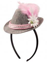 Minihat bayersk grå og lyserød til kvinder