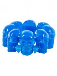 Gotisk armbånd dødningehoved blå