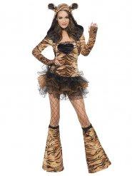 Kostume sexet tiger i tyl til kvinder