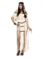 Kostume indianer med lange frynser til kvinder