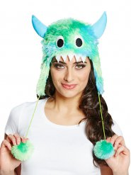 Hat sød monster blå og grøn
