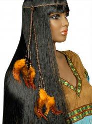 Indianer hårpynt med fjer til voksne