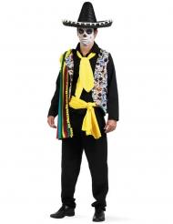 Mexicansk Dia de los muertos kostume til mænd