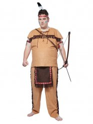 Indianer kostume i stor størrelse - mand