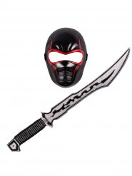 Kit ninja sort og rød til børn