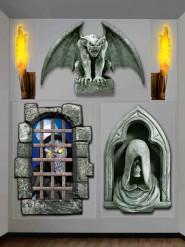 Halloween vægdekoration - Monster slot