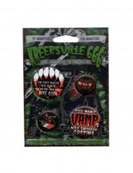 4 Gotisk vampyr badges