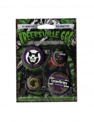 4 Kreepsville gotisk badges