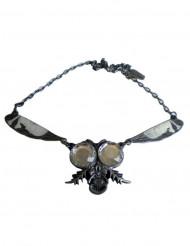 Gotisk halskæde sølvfarvet flue