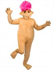Trold lyserød beige kostume voksen