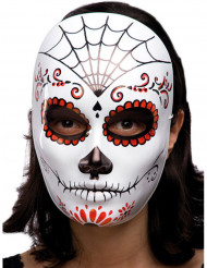 Dia de los Muertos Halloween maske til voksne