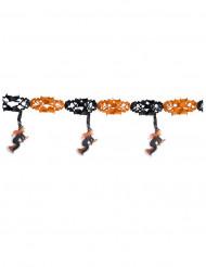Guirlande orange og sorte hekse 300 x 40 cm