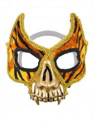 Venetisk tiger maske med guldtænder