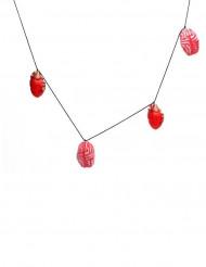 Guirlande hjerter og hjerner 150 x 9 cm Halloween