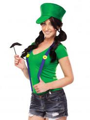 Blikkenslager kostume til kvinder i grøn