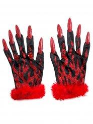 Djævle handsker til kvinder - Halloween