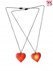 Halskæde med lysende hjerte