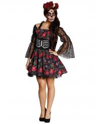 Kostume skelet Dia de los muertos Halloween