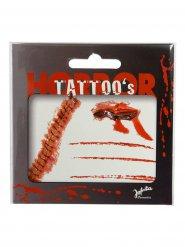Halloween blodigt tatoveringskit til voksne