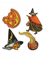 Dekorationssæt hekse til Halloween