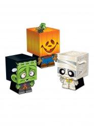 Pakke med 3 overraskelsesæsker Trick or Treat til Halloween multifarvede