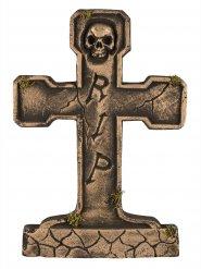 Gravsten RIP skelet bronze 65 cm