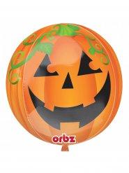 Halloween græskar - Aluminiumsballom 38 cm