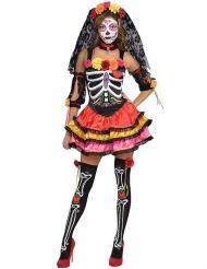 Kostume farvet skelet Dia de los Muertos til kvinder