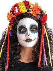 Blomsterkrans Dia de los Muertos multifarvet