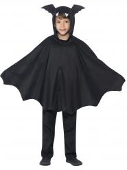 Kostume poncho flagermus sort til børn