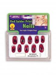 Negle sæt hekse edderkop sort og rød