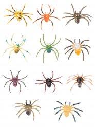 Dekoration multifarvet taranteller Halloween
