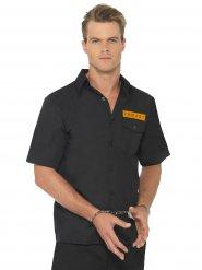 Skjorte mand indsat sort og orange