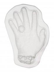 Budding form af hånd gennemsigtig