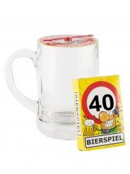 Ølkrus til en 40 års