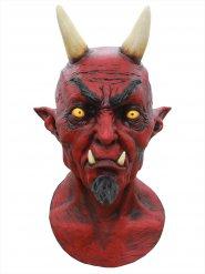 Latex maske dæmon Halloween luksus