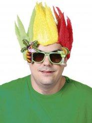 Paryk jamaicansk gul rød grøn til voksne!