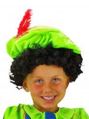 Paryk med krøllet hår barn sort