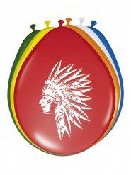 8 Balloner indianer flerfarvet 30 cm