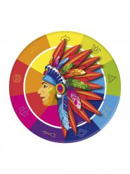 8 Paptallerkner indianer 23 cm
