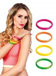 4 flerfarvede armbånd 80