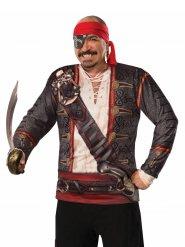 Tshirt kostume pirat mand