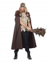 Viking kappe med falsk pels og dødningehoveder