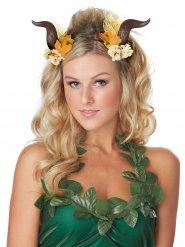 Brune horn med blomster til voksne