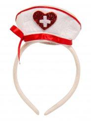Hårbånd med sygeplejerske hat