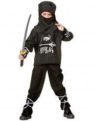 Kostume ninja til børn sort og hvid.