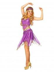 Kostume orientalsk danser lilla til kvinder